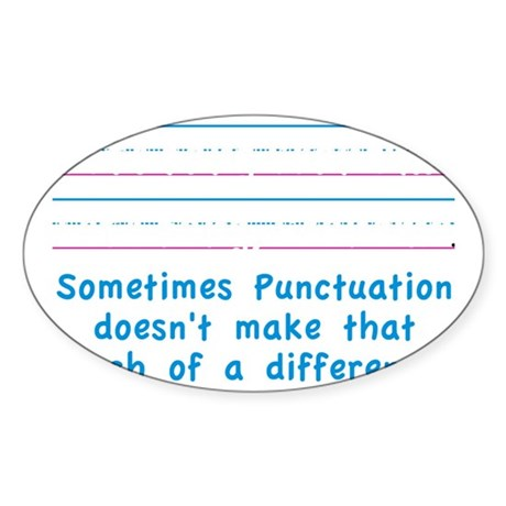 Punctuation Sticker (Oval)