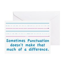 Punctuation Greeting Card