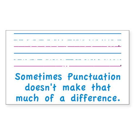 Punctuation Sticker (Rectangle)