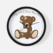 Cute Sick Teddy Infant Design Wall Clock