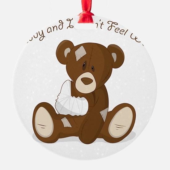 Cute Sick Teddy Infant Design Ornament