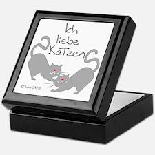 Ich liebe Katzen love cats German Keepsake Box