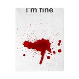 Blood splatter Luxe Twin Duvet Cover