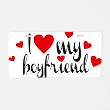 boyfriend Aluminum License Plate