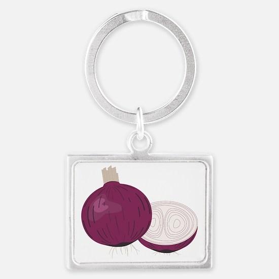Onion Landscape Keychain