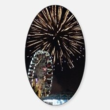 Fireworks Over Fairground Print Decal