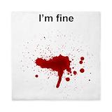 Blood splatter Duvet Covers