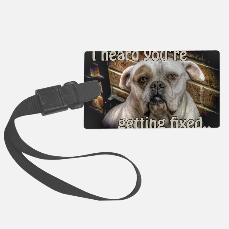 getting fixed get well card Luggage Tag