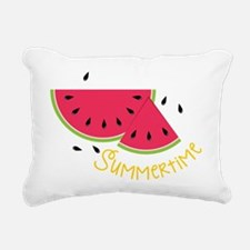Summertime Rectangular Canvas Pillow