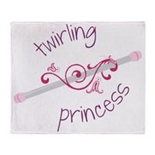 Twirling Princess Throw Blanket