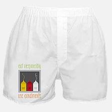 Eat Responsibly Boxer Shorts