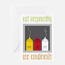 Eat Responsibly Greeting Card