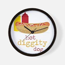 Hot Diggity Wall Clock