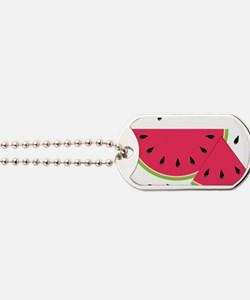 Watermelon Slice Dog Tags