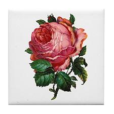 Red Rose 1 Reversed Tile Coaster