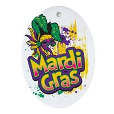 Mardi Gras Design C Oval Ornament