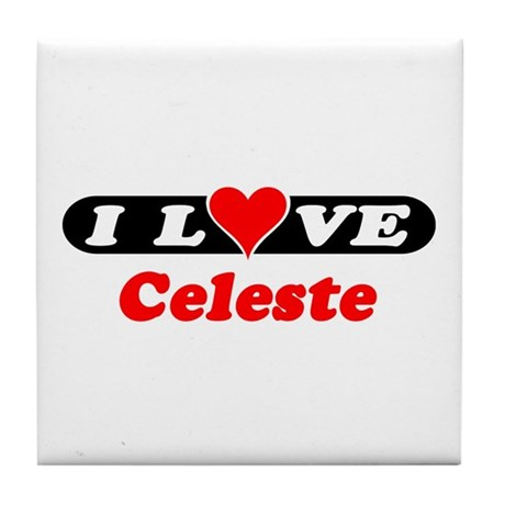 I Love Celeste Tile Coaster