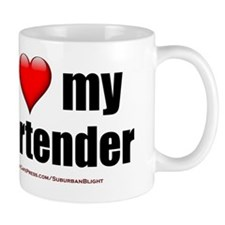 I Love My Bartender lightapparel Mug
