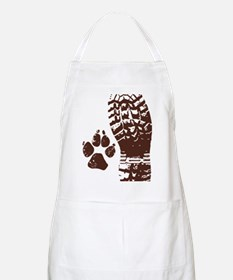 Hiking Boot n Paw Sticker Apron