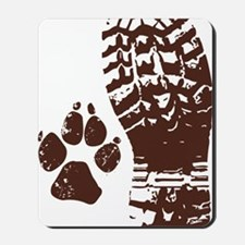 Hiking Boot n Paw Sticker Mousepad