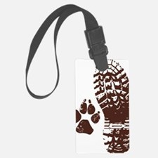Hiking Boot n Paw Sticker Luggage Tag