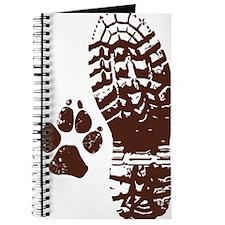 Hiking Boot n Paw Sticker Journal