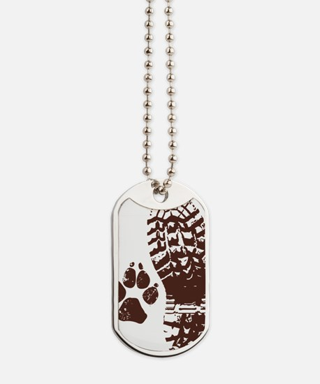 Hiking Boot n Paw Sticker Dog Tags
