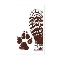 Hiking Boot n Paw Sticker Decal