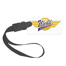 Logo Wings White URL Luggage Tag