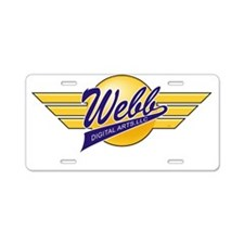 Logo Wings White URL Aluminum License Plate