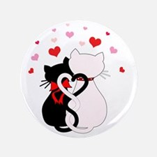 "Love Cats 3.5"" Button"
