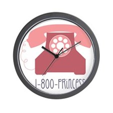 1-800-PRINCESS Wall Clock