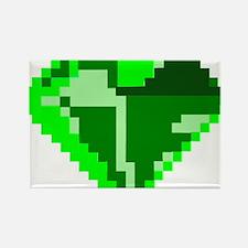 Green 8-bit Emerald Pixel Art Rectangle Magnet