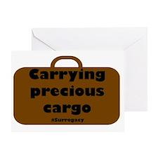 Carrying precious cargo surrogacy Greeting Card