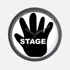 Stage Hand Wall Clock