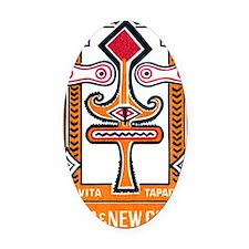 1966 Papua New Guinea Toivita Tapa Oval Car Magnet