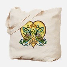 Celtic Birds in a Heart Tote Bag