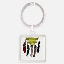 Jephthas Daughters Square Keychain