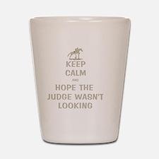 Funny Keep Calm Horse Show Shot Glass