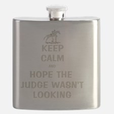 Funny Keep Calm Horse Show Flask