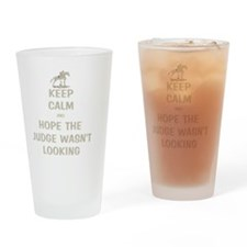 Funny Keep Calm Horse Show Drinking Glass