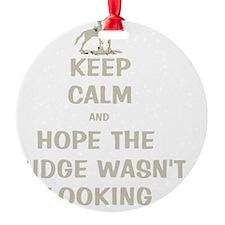 Funny Keep Calm Horse Show Ornament