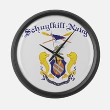 Crest of Schuylkill Navy Large Wall Clock