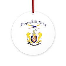 Crest of Schuylkill Navy Round Ornament