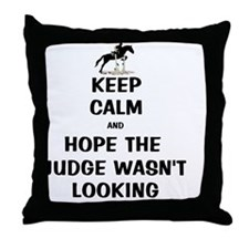 Funny Keep Calm Horse Show Throw Pillow
