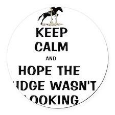 Funny Keep Calm Horse Show Round Car Magnet