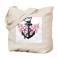 Anchor  Flowers Tote Bag