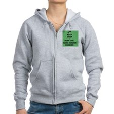 Funny Keep Calm Horse Show Zip Hoodie