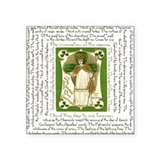 "St. Patricks Breastplate Sq Square Sticker 3"" x 3"""