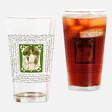 St. Patricks Breastplate Square Drinking Glass